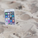 iphone marooned on beach
